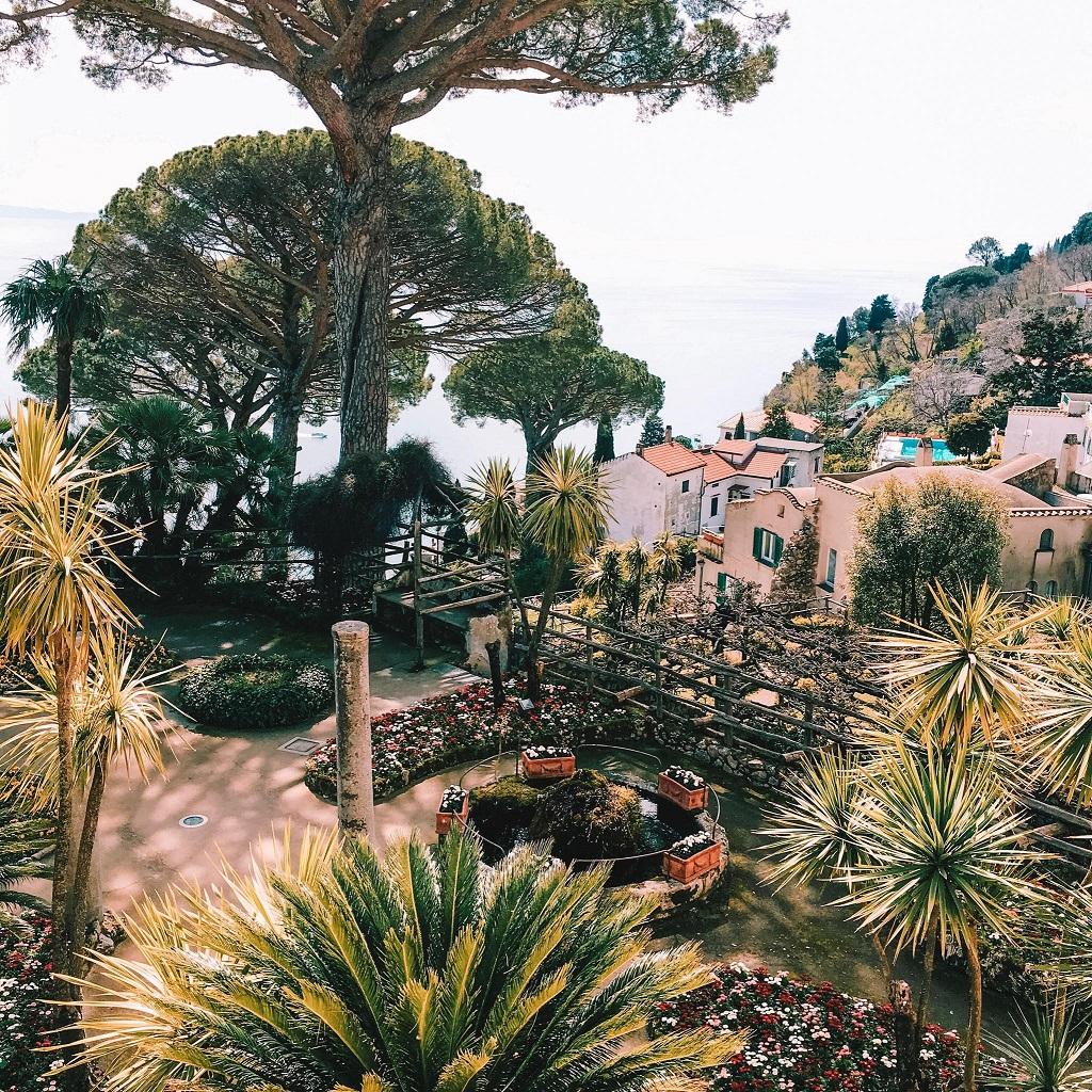 Villa Rufolo, zeleni vrt - čudovite vile in vrtovi Ravella