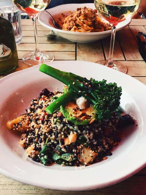 Jamie's Italian - tagliatelle bolognese and super food salad
