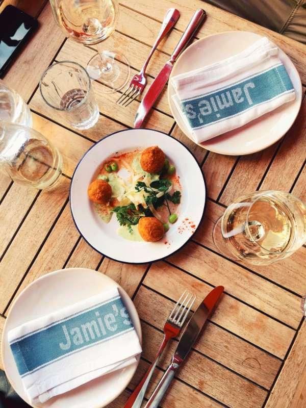 Jamie's Italian - crab arancini