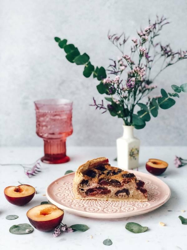 Slivova pita z mandlji - domač recept